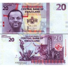Swazimaa 2010 20 Lilangeni P37a UNC