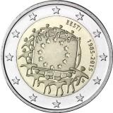 Viro 2015 2 € EU:n lippu 30v UNC