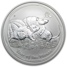 Australia 2008 1 Dollar Year of the Mouse 1 Unssi HOPEA BU