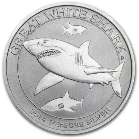 Australia 2014 50 Cents Great White Shark 1/2 Unssi HOPEA BU