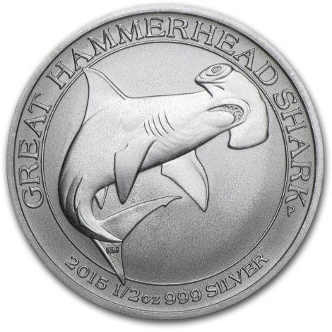 Australia 2015 50 Cents Hammerhead Shark 1/2 Unssi HOPEA BU