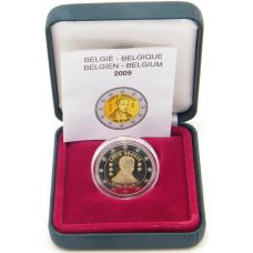 Belgia 2009 2 € Louis Braille PROOF