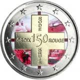 Belgia 2014 2 € Punainen Risti 150v VÄRITETTY
