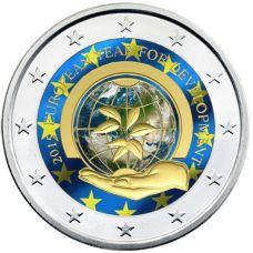 Belgia 2015 2 € Kehitysyhteistyön eurooppalainen teemavuosi VÄRITETTY