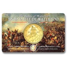 Belgia 2015 2,5 € Waterloo COINCARD BU
