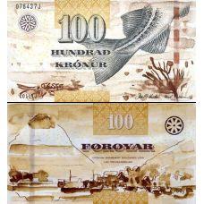 Färsaaret 2011 100 Kronur P30 UNC