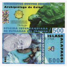 Galapagossaaret 2012 500 Nuevos Sucres A11 UNC