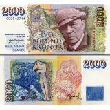 Islanti 1986 2000 Kronur P57a1 UNC