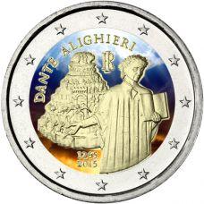 Italia 2015 2 € Dante Alighieri VÄRITETTY