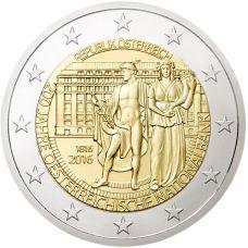 Itävalta 2016 2 € Itävallan keskuspankki 200v UNC