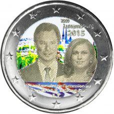 Luxemburg 2015 2 € Henri VÄRITETTY