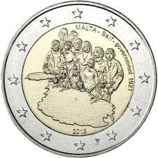 """Malta 2013 2 € Itsehallinto 1921 """"Y"""" BU"""