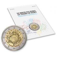 Portugali 2012 2 € Euro 10 vuotta BU COINCARD