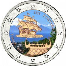 Portugali 2015 2 € Timor 500 vuotta VÄRITETTY