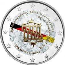 San Marino 2015 2 € Saksan yhdistyminen 25v VÄRITETTY