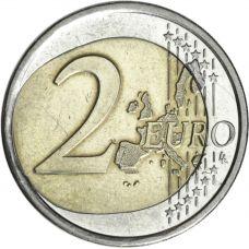 Suomi 2001 2 € Virhelyönti AUNC