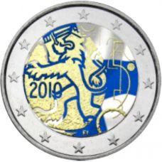 Suomi 2010 2 € Suomalainen raha 150v #2 VÄRITETTY