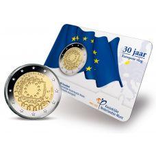 Alankomaat 2015 2 € EU:n lippu 30v COINCARD