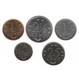Alankomaiden Antillit 1 - 25 sentit 1970-1985 UNC