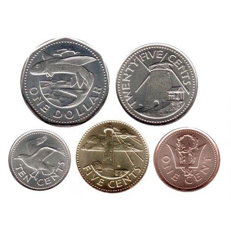 Barbados 2011-2012 1 cent - 1 dollar UNC