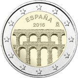 Espanja 2016 2 € Segovia UNC