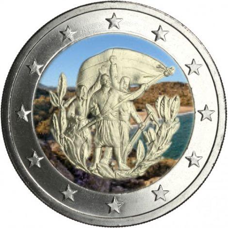 Kreikka 2013 2 € Kreeta #2 VÄRITETTY