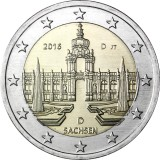 Saksa 2016 2 € Sachsen D UNC