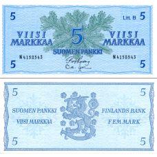Suomi 1963 5 Markkaa Litt B P99a UNC