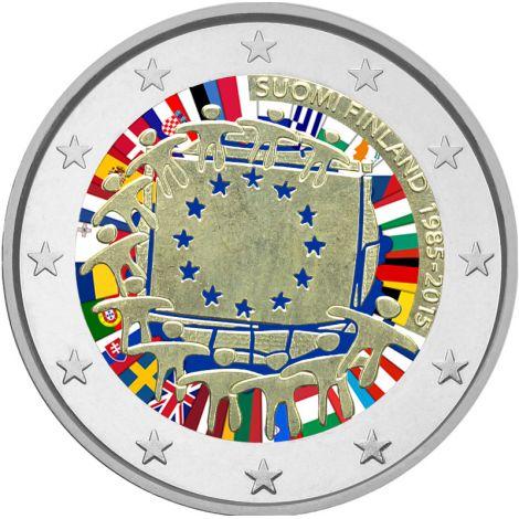 Suomi 2015 2 € EU:n lippu 30v #2 VÄRITETTY
