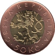 Tsekki 2011 50 Korun UNC