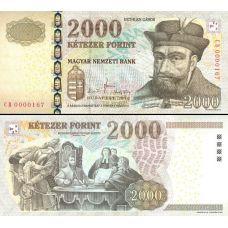 Unkari 2010 2000 Forint P198c UNC