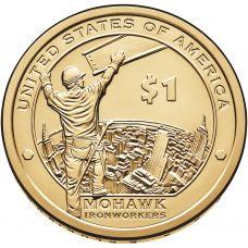 """USA 2015 $1 Sacagawea Native American """"D"""" UNC"""