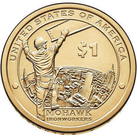 """USA 2015 $1 Sacagawea Native American """"P"""" UNC"""