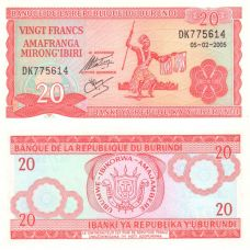 Burundi 2005 20 Francs P27d UNC