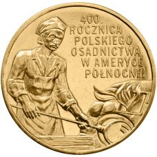 Puola 2008 2 Złoty 400th Anniversary of Polish Settlement in North America UNC