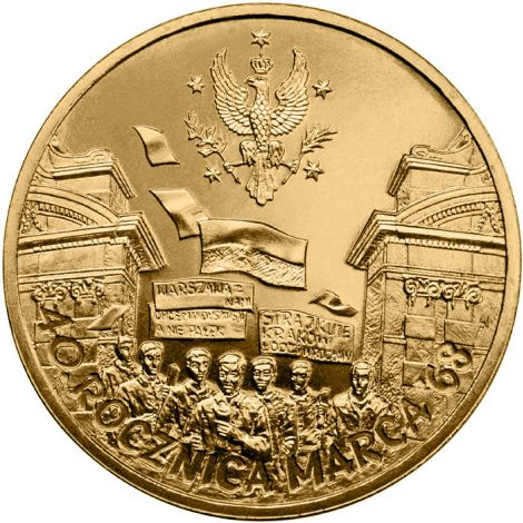 Puola 2008 2 Złoty 40th Anniversary of March 1968 UNC