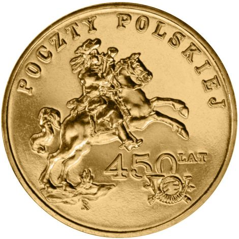 Puola 2008 2 Złoty 450 Years of the Polish Postal Service UNC