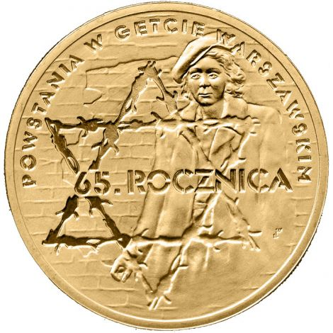 Puola 2008 2 Złoty 65th Anniversary of Warsaw Ghetto Uprising UNC