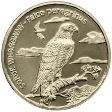 Puola 2008 2 Złoty Peregrine falcon UNC