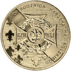 Puola 2010 2 Złoty 100th Anniversary of Polish Scouting UNC