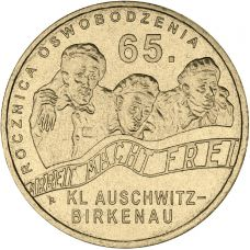 Puola 2010 2 Złoty 65th anniversary of liberation of KL Auschwitz-Birkenau UNC