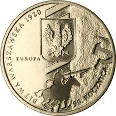 Puola 2010 2 Złoty 90th Anniversary of the Battle of Warsaw UNC