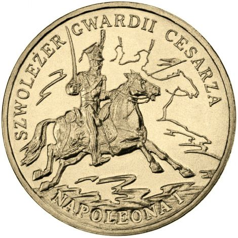 Puola 2010 2 Złoty Chevau-Légers of the Imperial Guard of Napoleon I UNC
