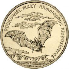 Puola 2010 2 Złoty Lesser horseshoe bat UNC
