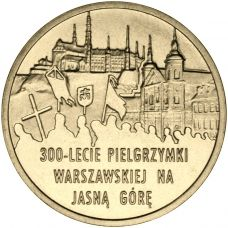 Puola 2011 2 Złoty 300th Anniversary of Warsaw Pilgrimage to the Marian Shrine of Jasna Góra in Częstochowa UNC