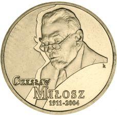 Puola 2011 2 Złoty Czesław Miłosz UNC