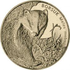 Puola 2011 2 Złoty European Badger UNC