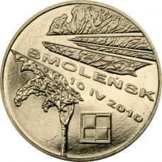 Puola 2011 2 Złoty In Memory of the Victims of the 10 April 2010 Presidential Plane Crash in Smolensk UNC