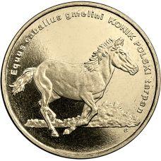 Puola 2014 2 Złoty Animals of the World - Polish konik horse UNC
