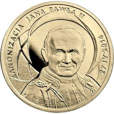 Puola 2014 2 Złoty Canonisation of John Paul II, 27 IV 2014 UNC